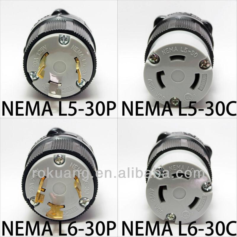 Nema 6 20p Wiring Diagram 30a Nema Cerradura De La Torcedura Plug Conector L5 30 L6