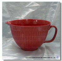 Solid Color Melamine Mixing Bowl Large Bowl With Handle ...