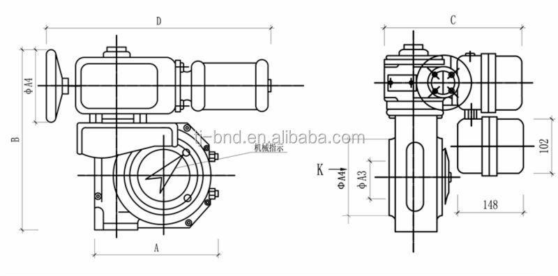 Bernard electric motorized damper valve coal mill actuator