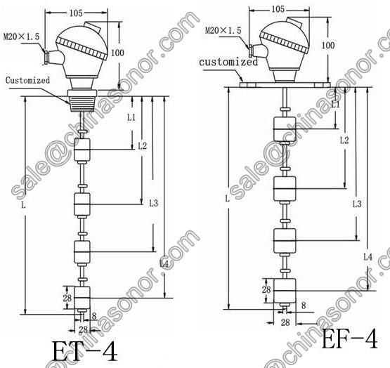 Water Tank Switches/water Tank Float Switch System/level