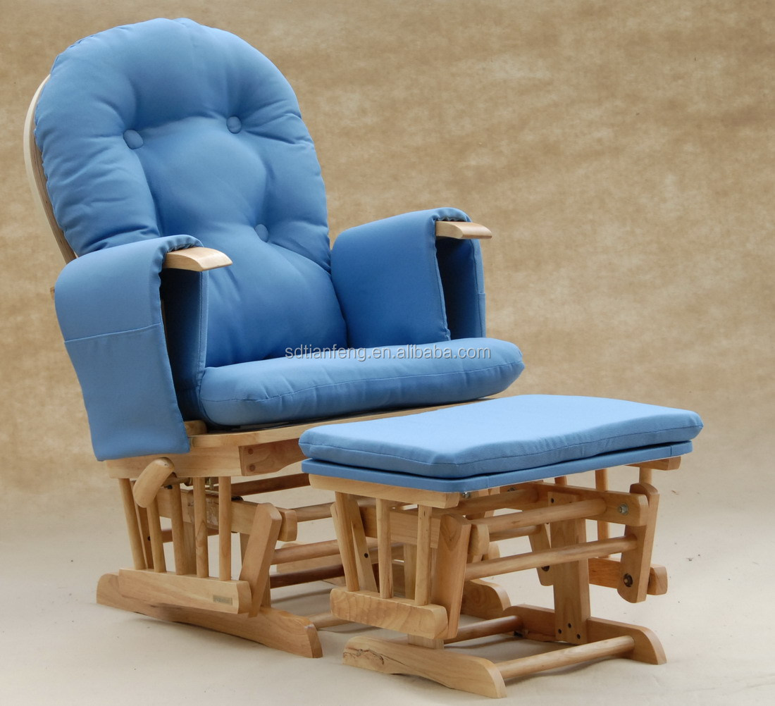 best glider chairs desk chair footrest seller uk market wooden rocker with padded
