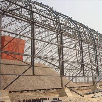 baja ringan lengkung struktur ruang kerangka melengkung atap gulungan untuk pabrik