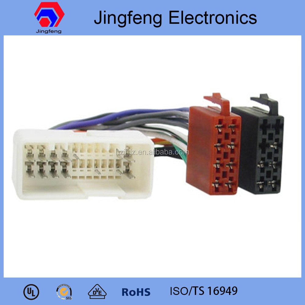 hight resolution of 24pin iso connector wire harness for hyundai car audio
