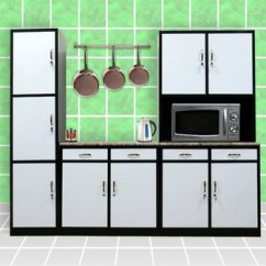 Kitchen Cabinets Set Stand Alone Pantry Complete Cabinet Sets Metal Aluminium