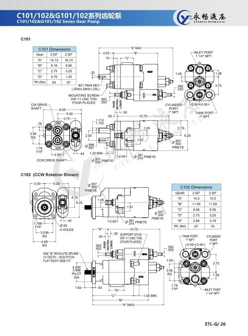 small resolution of praker c101 c102 gear pump tipper hydraulic pump for truck manual or with air shift