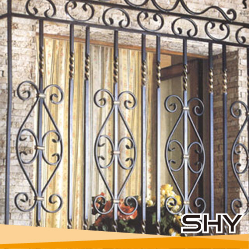 House Simple Iron Morden Window Grill Design For Sliding Window