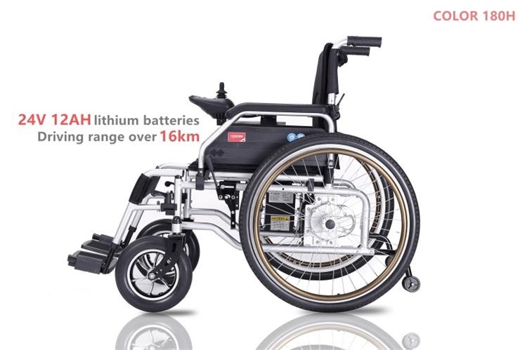 Lightweight Folding Wheelchair Power Assist Wheelchair