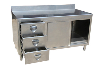 kitchen movable cabinets upper european style stainless steel commercial industrial cabinet with drawer backsplash easy