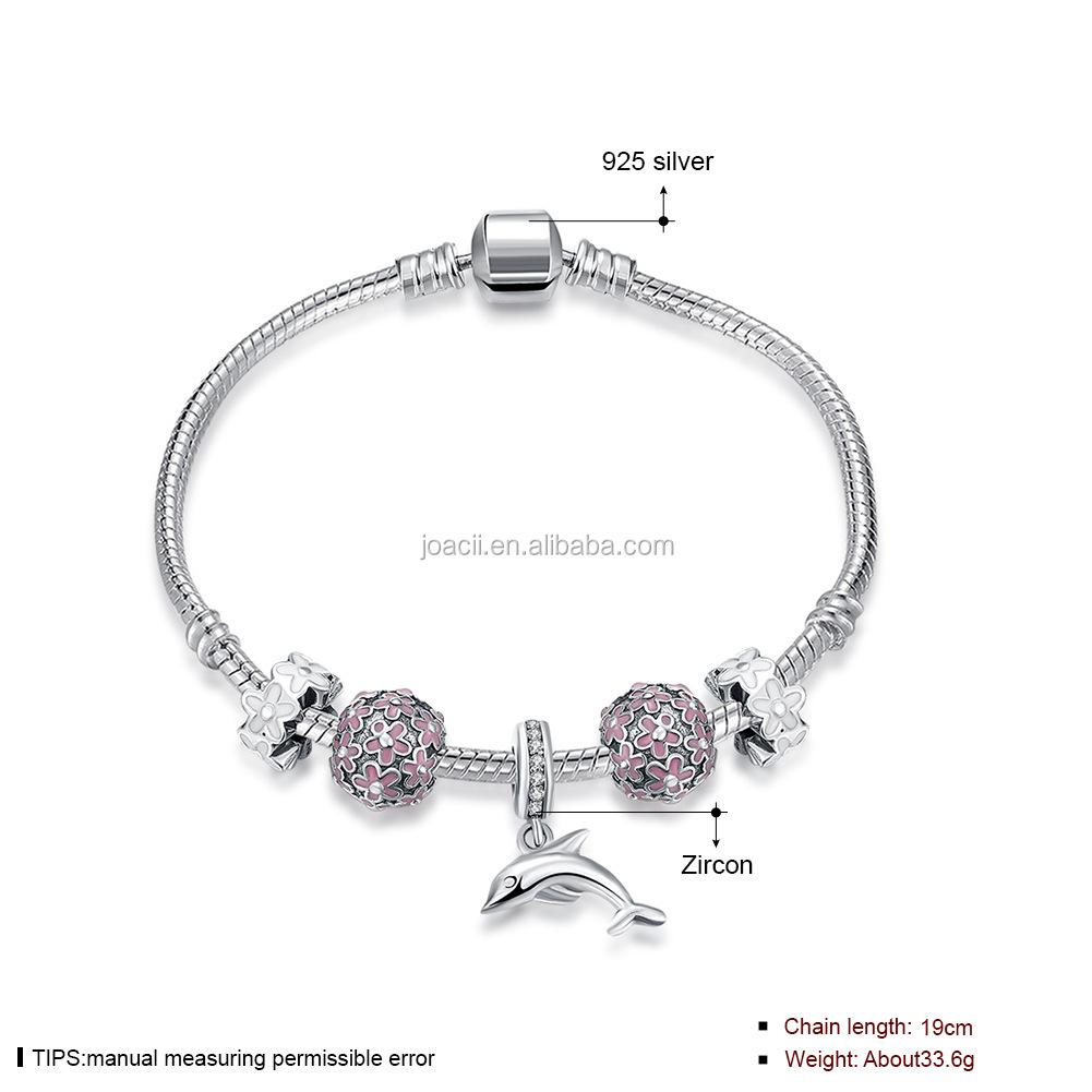 Joacii Customs Jewelry Lucky Dolphin Shape Pink Beads
