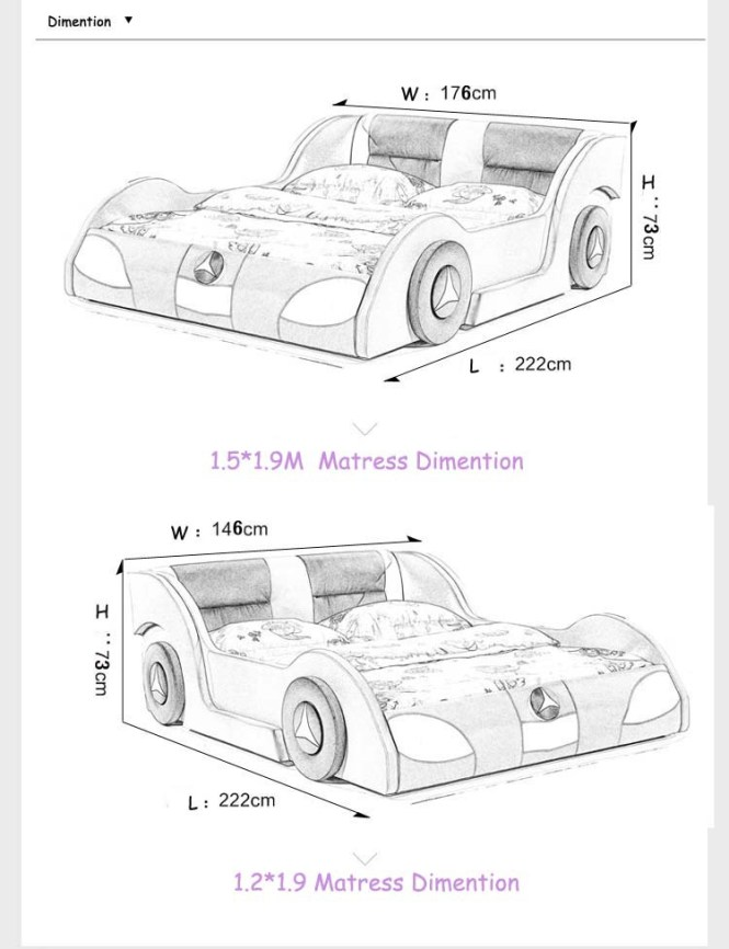 Full Size Race Car Bed