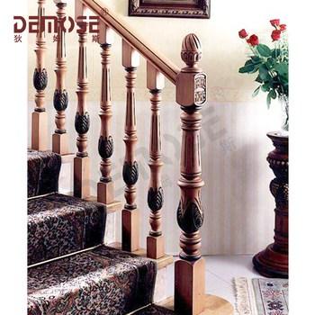 Interior Round Wood Stair Railings   Wood Stair Railings Interior   Residential   Craftsman Style   2Nd Floor   Paint   Rosette