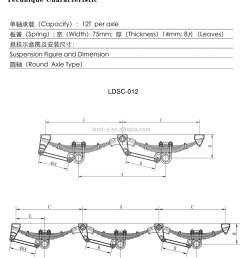 several types semi trailer suspension leaf spring hangers u bolts truck suspension parts [ 1053 x 1301 Pixel ]