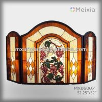 Mx080007 Tiffany Style Stainted Glass Fireplace Screen ...