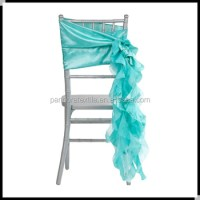 Tiffany Blue Ruffle Wedding Chair Sashes,Curly Willow ...