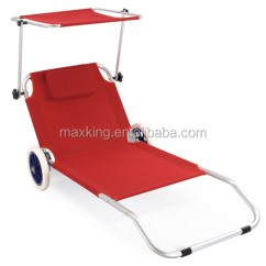 Beach Chair With Wheels Mesh Camping Aluminum Lounger Sunbed Buy Bed Product On