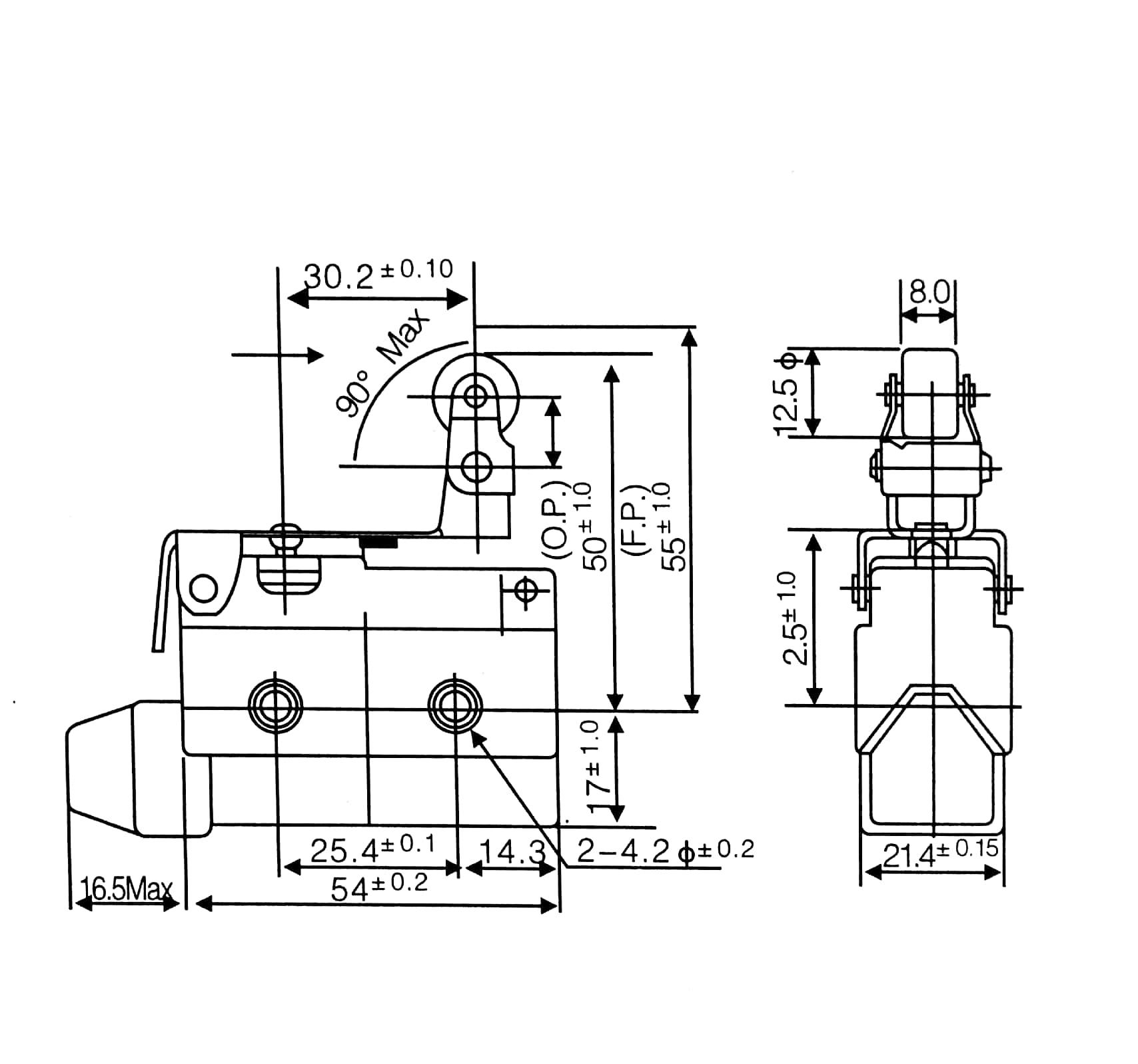 Az Series Az Mini Enclosed Type Roller Lever Micro