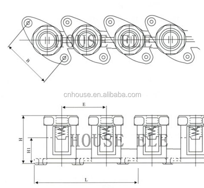 Hsl8x1 35mm Industrial Plastic Nylon Terminal For Street