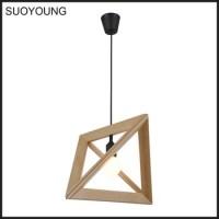 Fancy Decorative Wooden Chandelier Trangle Pendant Lights ...