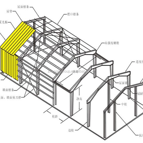 small resolution of steel structure warehouse h beam use for car parking system prefab homes