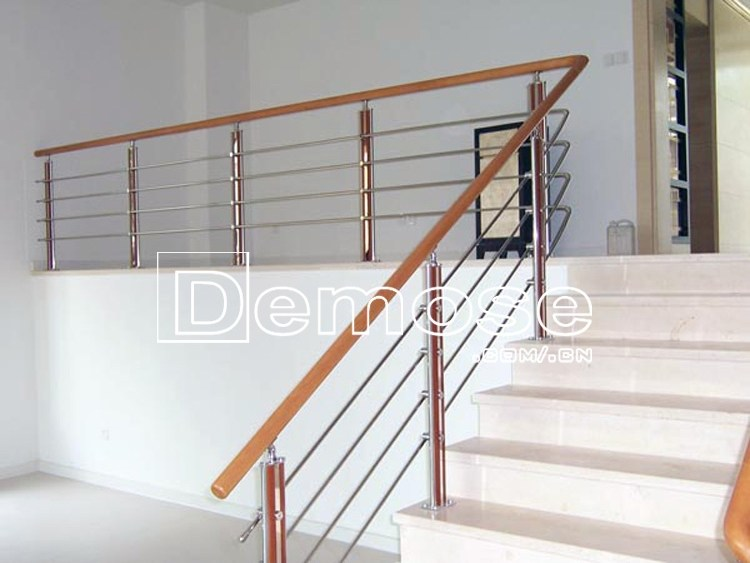 Stainless Steel Tubular Handrail For Interior Stairs Railing | Tubular Stair Railings Design | Mid Century Modern | Simple | Home Tower | Welded | Creative