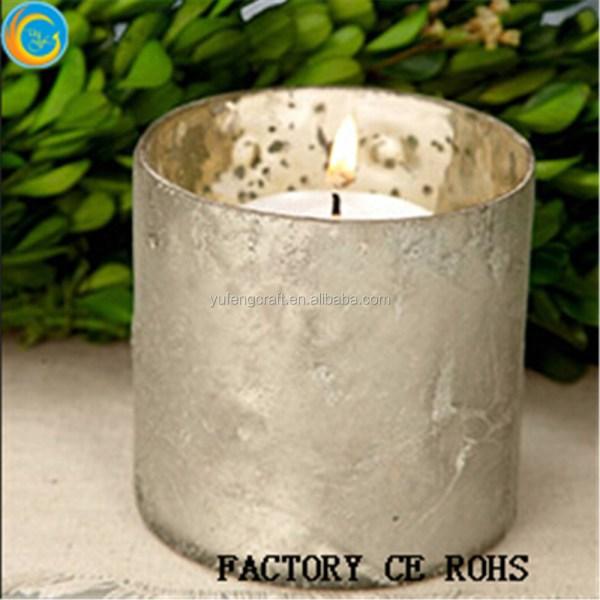 Mercury Glass Gold Speckled Glass Candle Holders Votive Holder Candleholder Tea Light Vintage ...