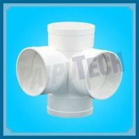 Plastic Sewage Pipe Fitting Pvc 3d Cross Connector - Buy ...