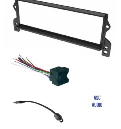 get quotations asc car stereo install dash kit wire harness and antenna adapter for installing a [ 1200 x 1518 Pixel ]