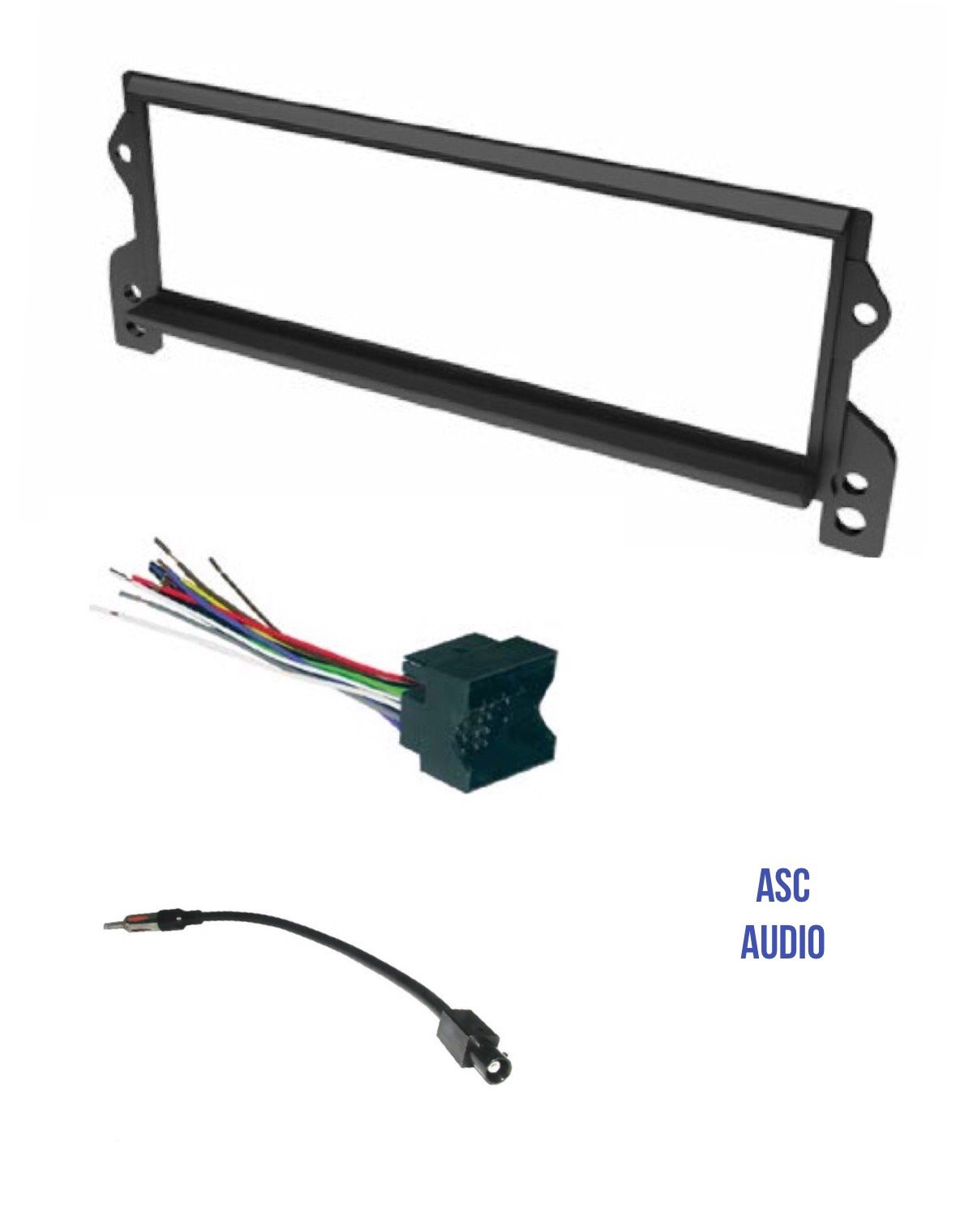 hight resolution of get quotations asc car stereo install dash kit wire harness and antenna adapter for installing a