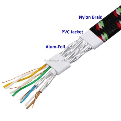 small resolution of durable strong nylon braided cat 7 rj45 network lan patch ethernet cable cord