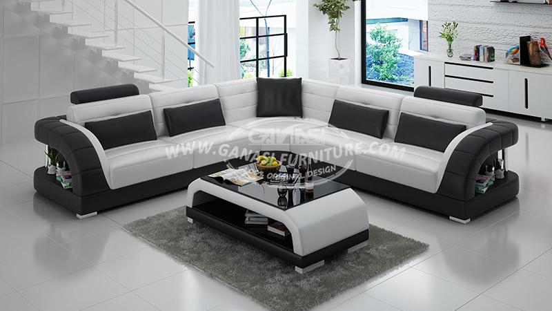sofas leather cheap modern l shape sofa ganasi white simple corner 2014 hot sale fashion