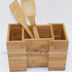 Kitchen Utensils Holder Countertop Storage Bamboo Wooden Utensil Buy Product On Alibaba Com