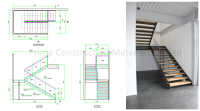 Invisible Beam Floating Staircase With Thick Wood Step ...