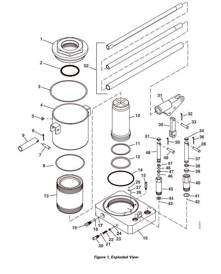50 T de voiture outils de réparation hydraulique cric avec