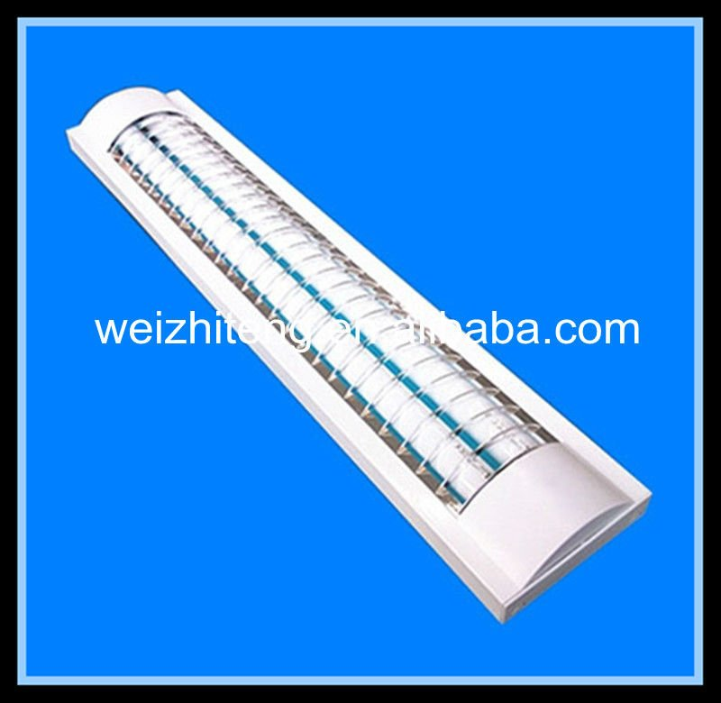 kitchen fluorescent light covers curtins saa ce rohs double tube t8 2x36w with grid cover