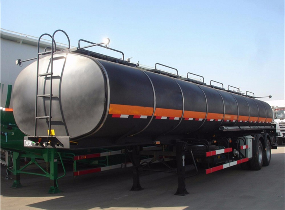 TITAN Tri Axle Tanker Heated Bitumen self heating bitumen tanker trailer
