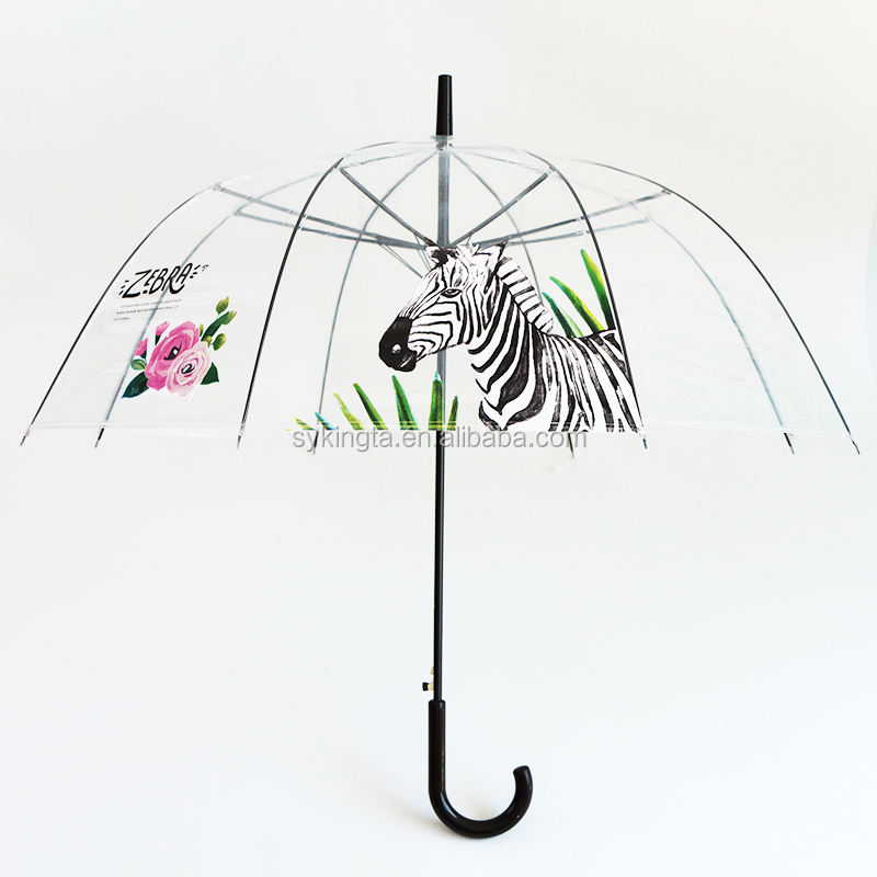 Poe Pvc Material Clear Bubble Transparent Umbrella