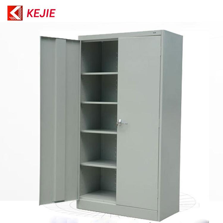Metal Black Lockkey Safety Office Metal Cupboard 2 Door