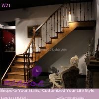Wood Staircase Indoor Wrought Iron Railings