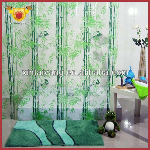 floret decorative printed bathroom pvc plastic transparent shower curtain peva shower curtain buy pvc plastic shower curtain transparent shower