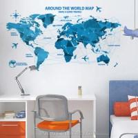 New Design World Map Wall Sticker Decoration Wall Decor ...