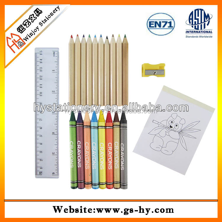 A Colorful Custom Coloring Book Printing Colour Books For Children With Oil Paint Crayon Set Buy