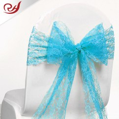 Baby Blue Chair Covers Best Ergonomic Under 300 Satin Fabric Cover Sash Bow Wedding Party Supplies Back Light Lace Sashes
