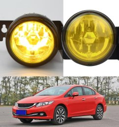 get quotations dzt1968 12v 55w for 1999 2000 honda civic si type r jdm yellow fog lights [ 1003 x 1003 Pixel ]