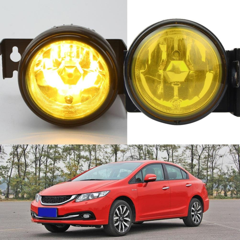 hight resolution of get quotations dzt1968 12v 55w for 1999 2000 honda civic si type r jdm yellow fog lights