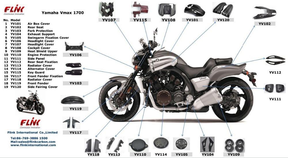 Partes do corpo de fibra de carbono da motocicleta para