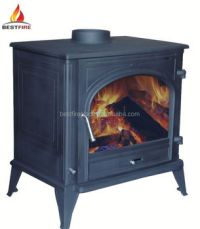 Cast Iron Wood Burning Real Fire Stove for hotel solid ...