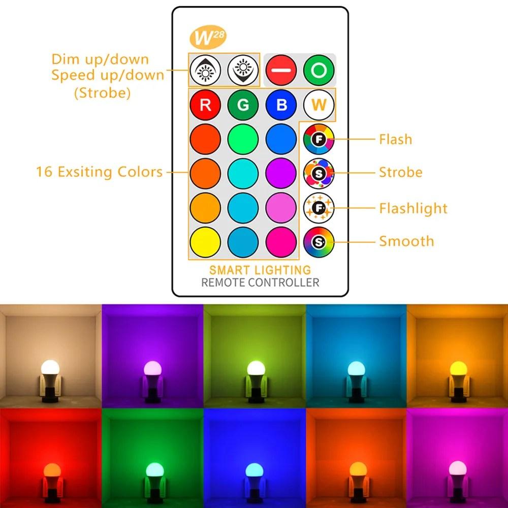 5 10 15w rgbw spotlight ir remote control e27 led 16 color changing rgb magic light bulb lamp buy 5 10 15w 85 265v spotlight ir remote