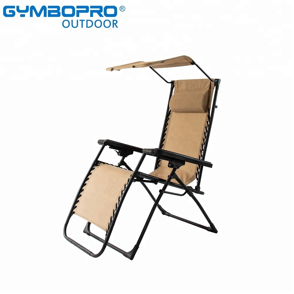 Zero Gravity Outdoor Lounge Chair Gymbopro Zero Gravity Patio Lounge Chair Sunshade Canopy Outdoor Chair Durable Mesh With Headrest Support 300lbs Buy Reclining Chair Zero Gravity