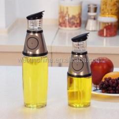 Oil Dispenser Kitchen Furniture Elemental 500ml Non Drip Spout Glass Press And Measure Vinegar