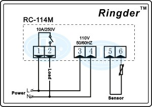Ringder Rc114m Electric Digital Heating Thermostat For